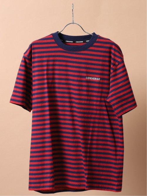 【大きいサイズ】コンバース/CONVERSE ボーダー柄クルーネック半袖Tシャツ