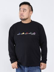 【大きいサイズ】コンバース/CONVERSE 刺繍 クルーネック長袖Tシャツ