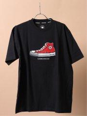 【大きいサイズ】コンバース/CONVERSE スニーカークルーネック半袖Tシャツ