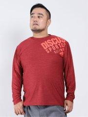 【大きいサイズ】ディスカス/DISCUS メランジ クルーネック長袖Tシャツ