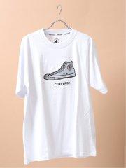 【大きいサイズ】コンバース/CONVERSE メッシュアップリケ クルーネック半袖Tシャツ