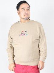 【大きいサイズ】コンバース/CONVERSE 裏毛刺繍 クルーネックトレーナー