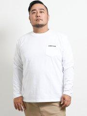 【大きいサイズ】コンバース/CONVERSE 刺繍ポケット付き クルーネック長袖Tシャツ