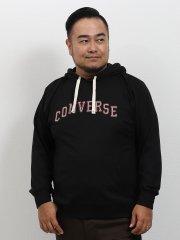 【大きいサイズ】コンバース/CONVERSE 天竺クロス刺繍プルパーカー