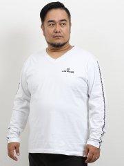 【大きいサイズ】エアウォーク/AIRWALK コットン天竺プリントクルーネック長袖Tシャツ