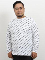 【大きいサイズ】エアウォーク/AIRWALK コットン天竺プリントVネック長袖Tシャツ