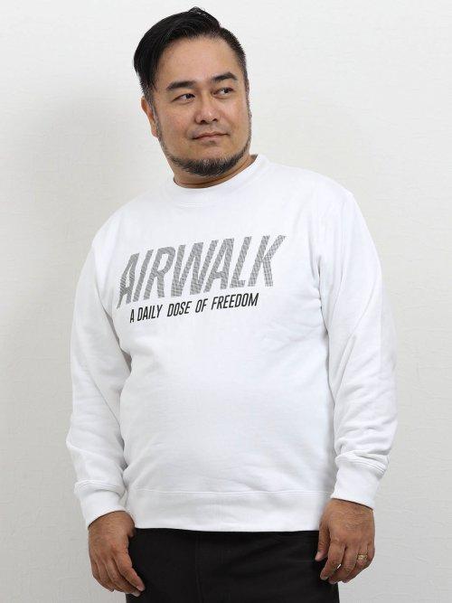 【大きいサイズ】エアウォーク/AIRWALK 裏毛厚盛ドットプリントトレーナー