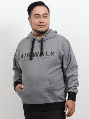 【大きいサイズ】エアウォーク/AIRWALK 裏毛太紐付きプルパーカー