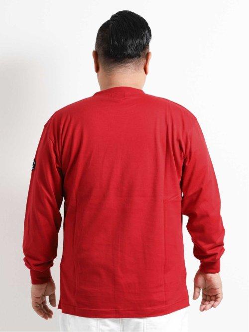【大きいサイズ】シナコバ/SINA COVA 綿フロッキープリント長袖Tシャツ
