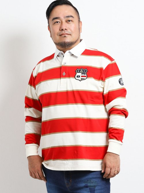 【大きいサイズ】シナコバ/SINA COVA バスクボーダーラガーシャツ