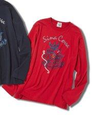 【大きいサイズ】シナコバ/SINA COVA 胸刺繍ロゴ クルーネック長袖Tシャツ