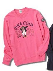 【大きいサイズ】シナコバ/SINA COVA 胸刺繍 クルーネックトレーナー