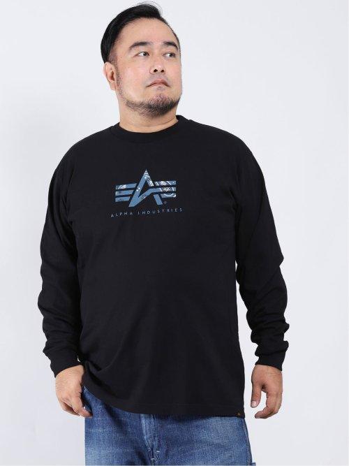 【大きいサイズ】アルファ・インダストリーズ/Alpha Industries 綿100% クルーネック長袖Tシャツ