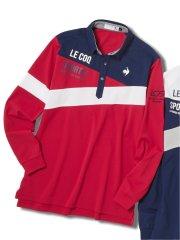 【大きいサイズ】ルコックスポルティフ ゴルフ/le coq sportif GOLF デザイン切替 長袖シャツ
