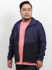 【大きいサイズ】ミズノ/MIZUNO キルトフルジップ長袖パーカー