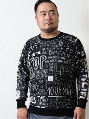 【大きいサイズ】デシグアル/Desigual ボリマニア クルーネック長袖Tシャツ