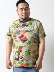 【大きいサイズ】デシグアル/Desigual ポストカードプリント 半袖Tシャツ