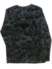 【大きいサイズ】デシグアル/Desigual コットン総柄ロゴ アップリケ長袖Tシャツ