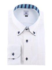 【大きいサイズ】ファットゥーラ/FATTURA 綿100%日本製ボタンダウン長袖シャツ
