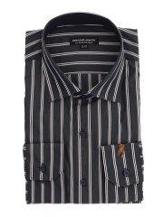 【大きいサイズ】GB by FATTURA  綿100%日本製 セミワイドカラー長袖シャツ