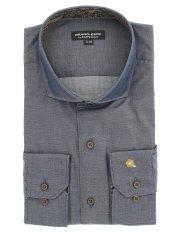【大きいサイズ】GB by FATTURA  綿100%日本製ワイドカラー長袖シャツ
