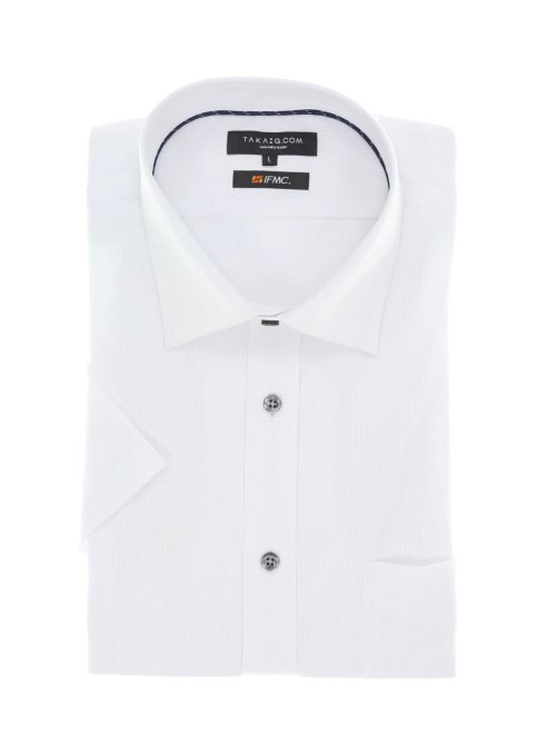 【WEB限定】 IFMC 吸水速乾ストレッチワイドカラー半袖シャツ スリムフィット