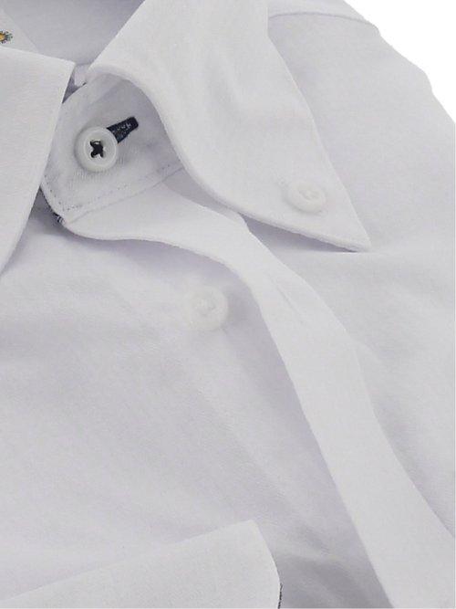 形態安定 吸水速乾 スリムフィット ボタンダウン長袖シャツ