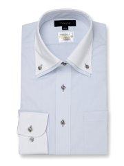 形態安定 吸水速乾 スタンダードフィット 2枚衿ドゥエクレリック長袖シャツ