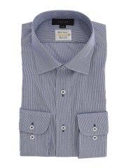 形態安定 吸水速乾 スタンダードフィット ワイドカラー長袖シャツ