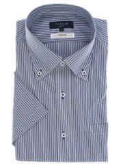 形態安定抗菌防臭スリムフィット ボタンダウン半袖シャツ