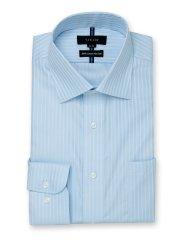 綿100% ノーアイロン スタンダードフィット ワイドカラー長袖シャツ