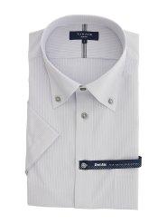 形態安定 DotAir スリムフィット ボタンダウン半袖シャツ