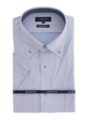 ノーアイロンストレッチ スリムフィット ボタンダウン 半袖ニットシャツ