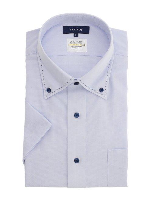 形態安定吸水速乾 レギュラーフィット ボタンダウン半袖シャツ