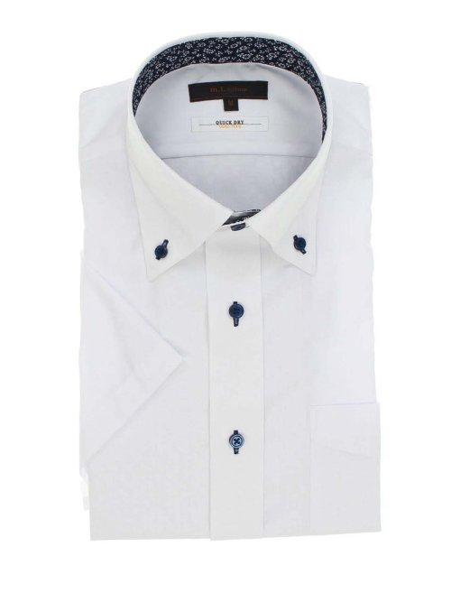 形態安定抗菌防臭レギュラーフィット ボタンダウン半袖シャツ