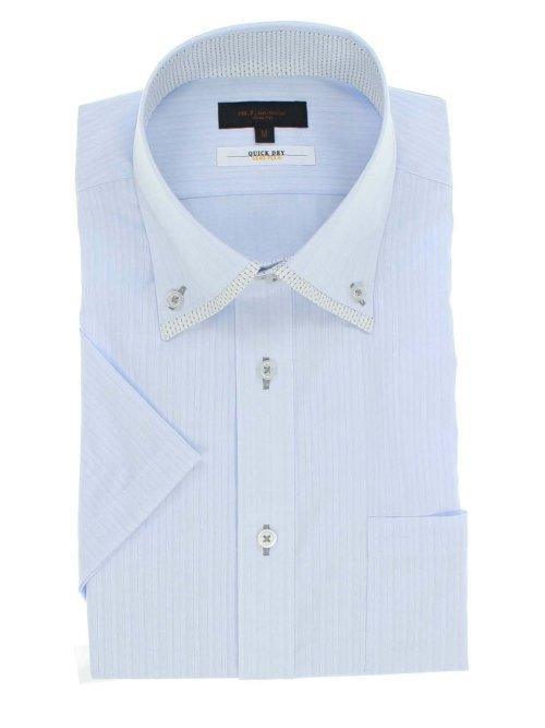 形態安定抗菌防臭スリムフィット マイタードゥエボタンダウン半袖シャツ