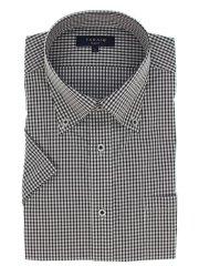 クールマックス/COOLMAX 形態安定スリムフィット ドゥエボタンダウン半袖シャツ