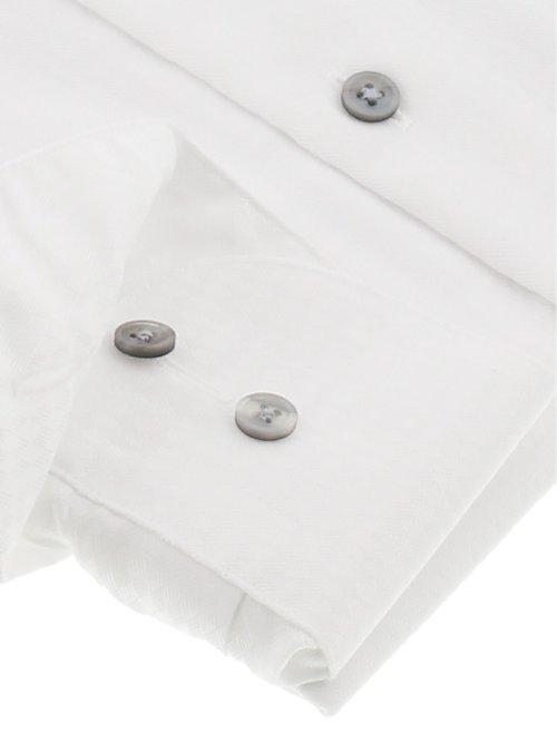 綿100% 形態安定スリムフィット ボタンダウン長袖シャツ