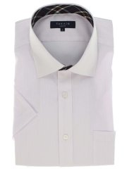 クールマックス/COOLMAX 形態安定スリムフィット ワイドカラー半袖シャツ