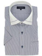 クールマックス/COOLMAX 形態安定スリムフィット ワイドカラークレリック半袖シャツ