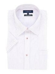 形態安定スリムフィットレギュラーカラー半袖シャツ