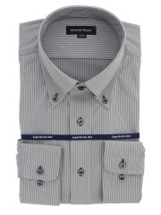 【大きいサイズ】グランバック/GRAND-BACK ノーアイロンストレッチ ボタンダウン長袖ニットシャツ