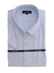 【大きいサイズ】グランバック/GRAND-BACK ノーアイロンストレッチ ボタンダウン半袖ニットシャツ