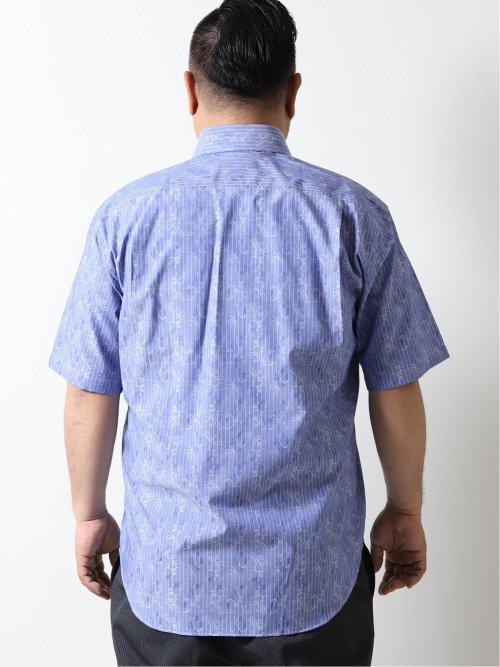 【大きいサイズ】アレキサンダージュリアン/ALEXANDER JULIAN 綿100% カッタウェイ半袖シャツ