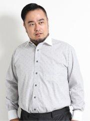 【大きいサイズ】グランバック/GRAND-BACK 綿100% 形態安定ワイドカラー長袖シャツ