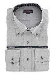 【大きいサイズ】グランバック/GRAND-BACK 綿100% 形態安定ボタンダウン長袖シャツ