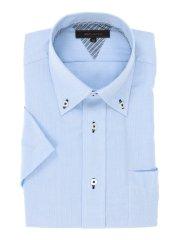 形態安定レギュラーフィット ボタンダウン半袖シャツ