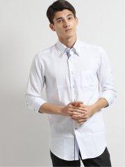 アイスカプセル形態安定スリムフィット ボタンダウン7分袖シャツ