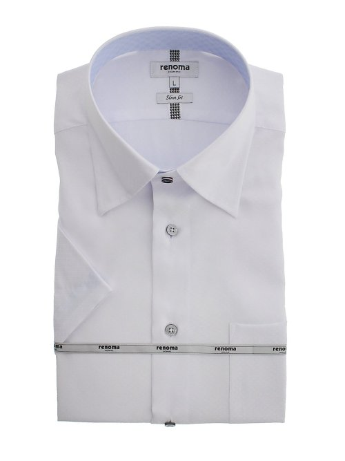 アイスカプセル形態安定 スリムフィット スナップダウン半袖シャツ