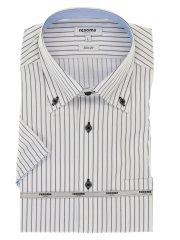 アイスカプセル形態安定スリムフィット ボタンダウン半袖シャツ